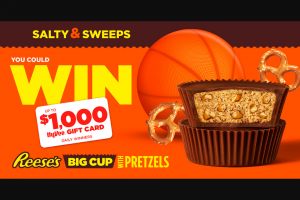 Hershey – Hy-Vee March Madness Instant Win & Sweepstakes