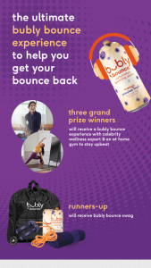 Iheart – Ultimate Bubly Bounce Back Experience – Win Towel Water Bottle and Tumbler