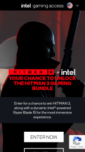 "Intel – Hitman 3 Gaming Bundle – Win high-performance gaming laptop (Razer Blade 15) with an Intel Core i7 processor fast 15.6"" 120Hz FHD display and a thin all aluminum chassis"