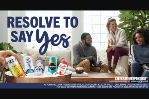 Molson Coors – Vizzy Resolve To Say Yes – Win is responsible for the gym membership at a gym of his/her own choosing and is responsible for paying any difference in value if the gym membership selected exceeds $599.