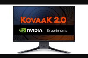 Nvidia & Kovaak – Alienware 360hz Gaming Monitor – Win Alienware 360Hz Gaming Monitor (24.5″)  KovaaK 2.0 Steam Key 9 Winners will receive KovaaK 2.0 Steam Key