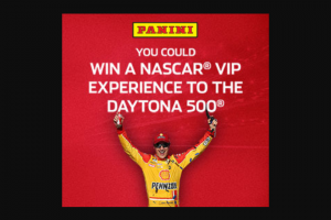 Panini – Nascar Vip Experience To Daytona 500 – Win for winner and up to three (3) guest(s) to attend the 2022 DAYTONA 500® race at Daytona International Speedway