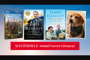 Pbs – Masterpiece Animal Lovers Giveaway – Win the following Prize
