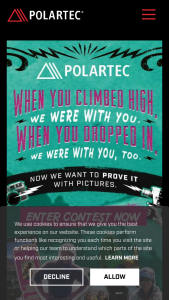 Polartec – 40 Years Of Fleece Photo Contest – Win All entrants whose photos are selected for inclusion in the Polartec Family Album will be eligible to win one of approximately 100 Polartec garments