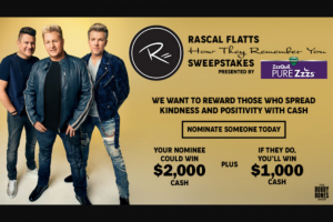 Premiere Networks – The Bobby Bones Show's Rascall Flats Sweepstakes