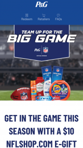 """Procter & Gamble – Team Up For The Big Game – Win for winner and one travel companion to Super Bowl LVI scheduled to be played on February 6 2022 in Inglewood California (the """"Super Bowl"""")."""