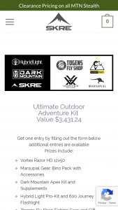Skre Gear – Ultimate Outdoor Adventure Kit Sweepstakes
