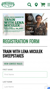 Sportsman's Warehouse – Train With Lena Miculek Sweepstakes