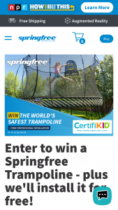 Springfree Trampoline – World's Safest Trampoline – Win is one Springfree Trampoline plus free continental USA delivery and Installation