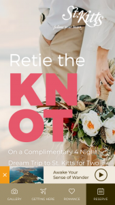 St Kitts Tourism – Retie The Knot Contest Sweepstakes