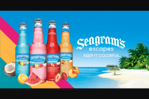 The Real – Seagram's Escapes – Win one (1) one hundred dollar ($100 US) gift card