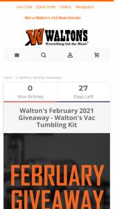 Walton's – February Giveaway Sweepstakes