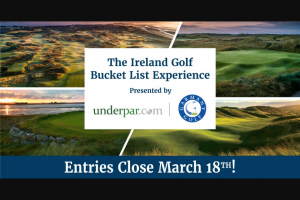 Washington Golf – Ireland Golf Bucket List Experience – Win 3-nights lodging for two at The Europa Hotel Belfast