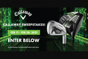 Worldwide Golf Shops – 2021 Callaway – Win one of the prizes stated here 1.
