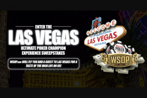 Wsopcom – Vegas Weekend Vip – Win Approximate Retail Value in USD  2021 World Series of Poker Main Event Seat $10000  Airfare for 2 to Las Vegas Nevada from nearest US Continental Airport to their home