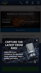 American Musical Supply – Breedlove Fishman Giveaway Sweepstakes