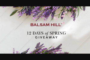 Balsam Hill – 12 Days Of Spring Giveaway 2021 Sweepstakes