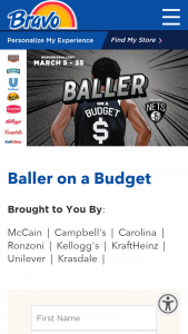 Bravo Supermarkets – Baller On A Budget Sweepstakes