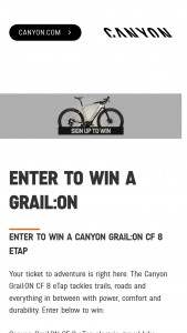 Canyon Bicycles – Grailon Cf 8 Etap – Win a Canyon Grail ON CF 8 eTap