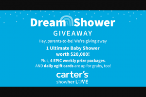 Carter's – Dream Shower Sweepstakes