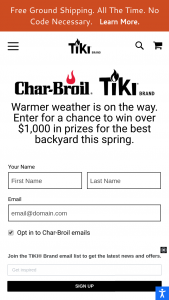 Char-Broil And Tiki Brand – Spring Sweepstakes