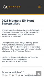 Charge Adventures – 2021 Montana Elk Hunt Sweepstakes