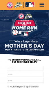 Church & Dwight – Legendary Mother's Day – Win four (4) Legends Suite tickets for winner and three (3) guests for one (1) New York Yankees home game to be played on May 9 2021 at Yankee Stadium in Bronx