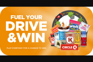 Circle K – Fuel Your Drive And Win – Win $10000 1 $10000 Total approximate retail value of all prizes is $3106830 not to exceed $248546.40 in Florida