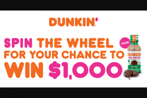 Coca-Cola – Dunkin' Spin Sweepstakes