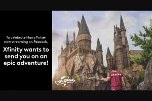 Comcast – Xfinity Universal Orlando Resort Adventure – Win a four (4) day