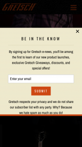 Fender – Gretsch Sound Of Honor – Win their first choice of the two prizes
