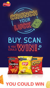 Frito-Lay – Crunch Your Luck – Win which will be transferred to the Service Provider Account linked to winner's  Account upon completion of the verification process