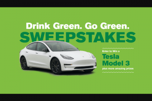 Grass Advantage – Drink Green Go Green 2021 – Win of a Tesla MODEL 3 vehicle