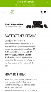 "Greenworks – Commercial 82v Mower – Win an 82V 25"" Self-Propelled Lawn Mower (GMS250) an 82V Battery (GL500) & an 82V Charger (GC420)."