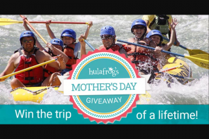 Hulafrog – Mother's Day Giveaway – Win The Ultimate Yellowstone Family Vacation TRIP DURATION 6 Days