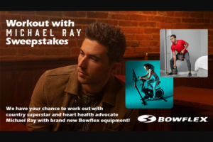 Iheart Bobby Bones – Workout With Michael Ray Sweepstakes
