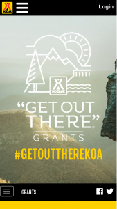 Koa Kampgrounds Of America – Get Out There Grant Contest Sweepstakes