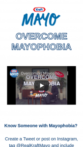 Kraft Heinz – Overcoming Mayophobia Sweepstakes