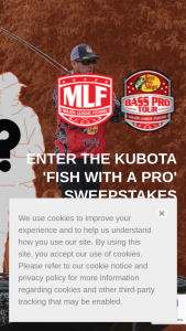 Kubota – Fish With A Pro – Win a 1-day fishing trip with Kevin VanDam for winner and one guest