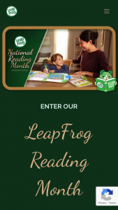 Leapfrog – National Reading Month – Win a $500 Walmart gift card