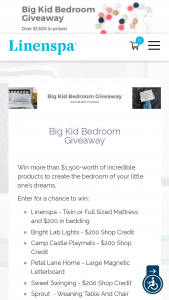 Linenspa – Big Kid Bedroom Giveaway Sweepstakes
