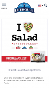 Litehouse – I Heart Salad Sweepstakes