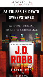 Macmillan – Faithless In Death – Win Grand Prize consists of a(n) One (1) finished hardcover copy of Faithless in Death by JD Robb  J D Robb poster