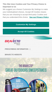 "Merck Animal Health – Bravecto Great Outdoors Instant-Win – Win a ""Great Outdoors"" prize package consisting solely of the following one (1) Apple Watch Series 6 one (1) KONG BUNGI ball"