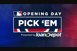 MLB – Opening Day Pick 'em Contest Sweepstakes