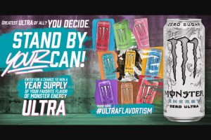 "Monster Energy – Ultra Chance To Win Product – Win hundred fifty (150) ""Grand Prizes"" are available"