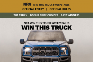 National Rifle Association Nra – Win This Truck – Win a merchandise prize or a gift card (VRV of each Fast Entry Prize $150).