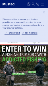 O Mustad & Son – Coastal Fall Chinook Fishing Trip – Win a fishing trip for 2 in Oregon with Addicted Fishing members (valued at $2750 USD) which includes