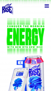 """Pepsi Mountain Dew – """"rise Conquer The Morning"""" Instant Win – Win one of the following prizes based on the pathway chosen at time of entry"""