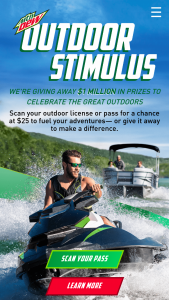Pepsi Mtn Dew – Outdoor 2021 Stimulus Instant Win Game – Win of a $25 eGift Card